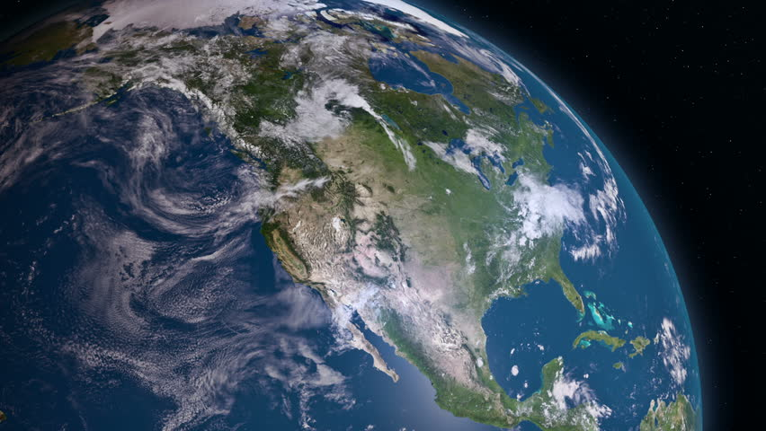 USA From Space Clip Contains Earth Usa