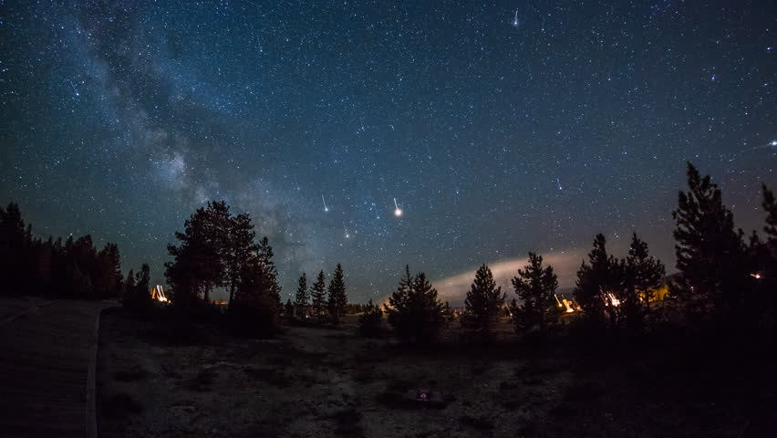 Canon 4k Video Camera >> Sky with Stars in Yellowstone National Park, Wyoming image - Free stock photo - Public Domain ...