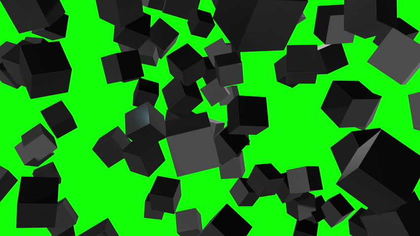 Cubes block. Assembling Big Data concept. Teamwork Business. 3D render HD footage. Green screen chroma key | Shutterstock HD Video #21842485