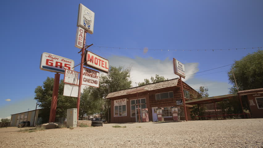 Old gas station in Bluff, Utah, United States.