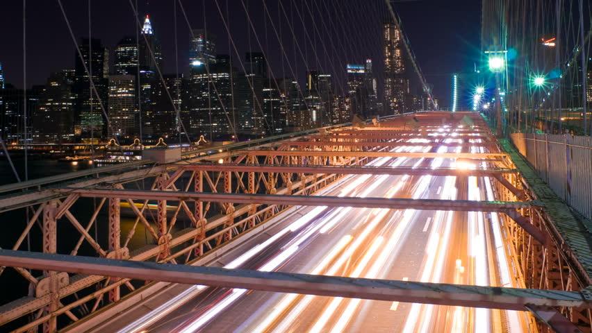 New York Brooklyn Bridge Traffic Stock Footage Video 100 Royalty