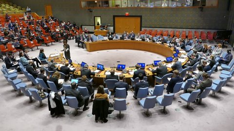 New York, United States -  November 16th 2016: United Nations Security Council Session