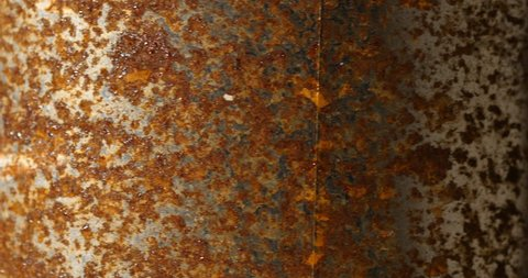 Rust texture of paintpot in rotation