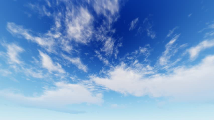 White clouds disappear in the hot sun on blue sky. Time-lapse motion background #21954895