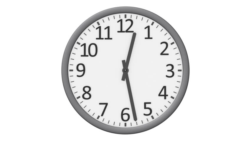 Animated Clock Counting Down 12 Hours Over 30 Seconds. Seamlessly ...