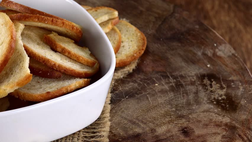 Portion of rotating Bread Chips as not loopable 4K UHD footage   Shutterstock HD Video #21969895