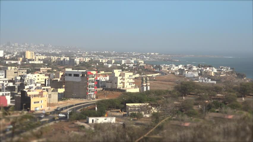 Panoramic view of Dakar from Renaissance monument