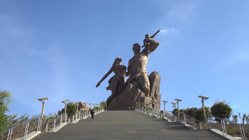 Dakar Renaissance monument, memorial - 2016 April: Dakar, Senegal