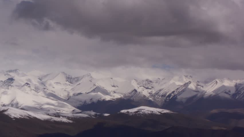 Timelapse of Mount Everest landscape, Himalayas, Tibet.