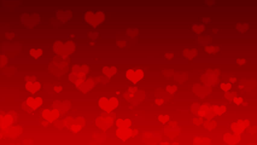 Flying Hearts Valentineu0027s Day Abstract Background   HD Stock Footage Clip
