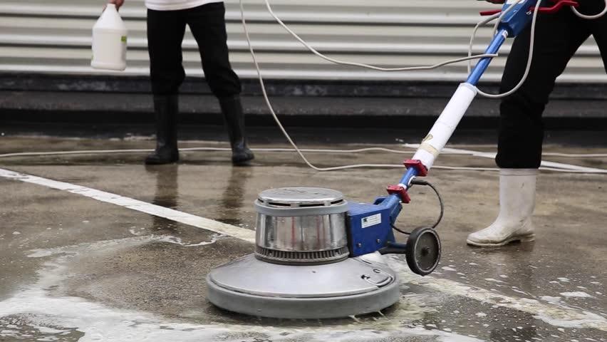 Concrete floor cleaning machine gurus floor for Concrete cleaning machine
