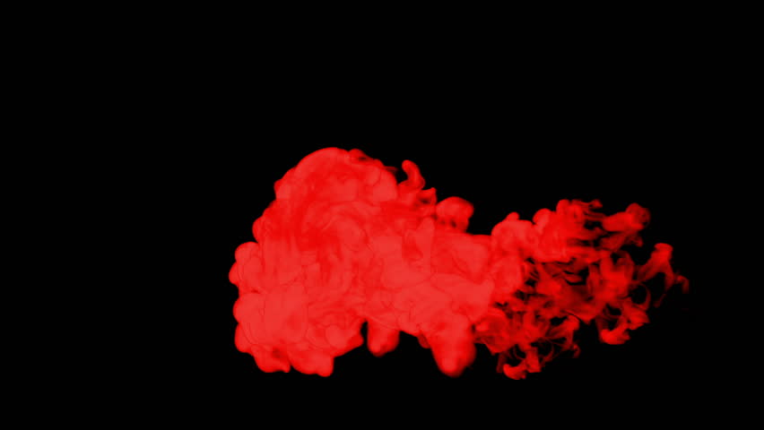 Stylized red ink drop in water on a black background for effects. 3d render. voxel graphics. computer simulation 9 | Shutterstock HD Video #22170286