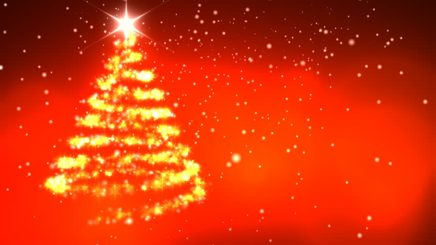 Christmas Star With Rotating Christmas Tree Shape   HD Stock Video Clip