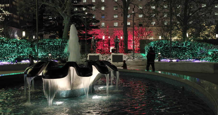 SALT LAKE CITY, UTAH - DEC 2016: Temple Square Christmas Lights ...