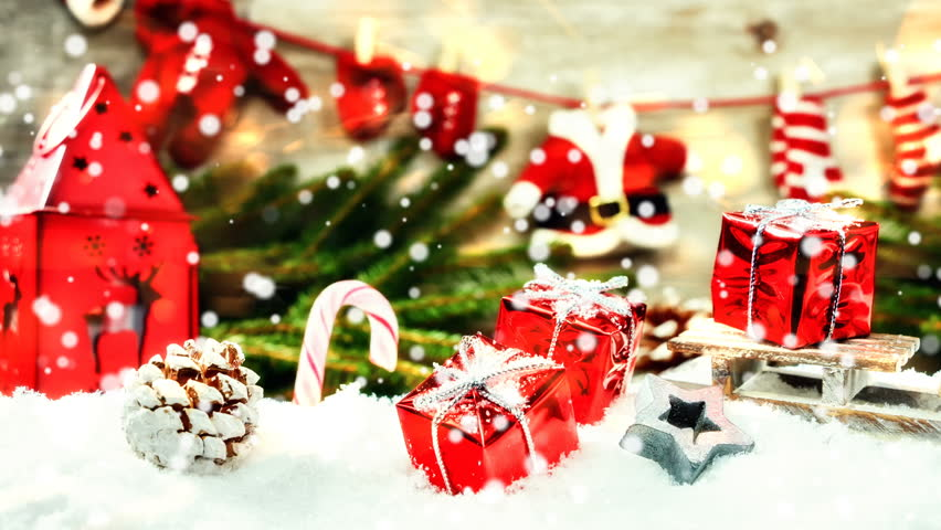 Christmas Holiday Setting With Santa Stock Footage Video 100 Royalty Free 22281145 Shutterstock