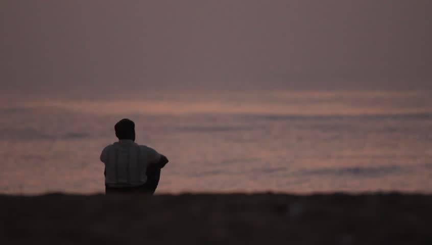 Image result for lonely man near the shore