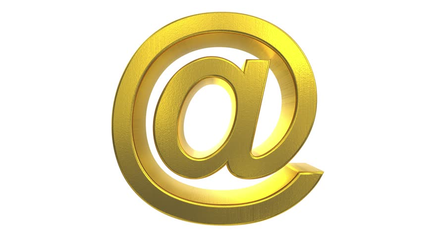 At sign symbol rotate email internet web social network e-mail digital loop 4k | Shutterstock HD Video #22334575