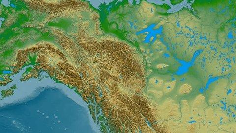 Zoom Into Mackenzie Mountain Range Stockvideos ...