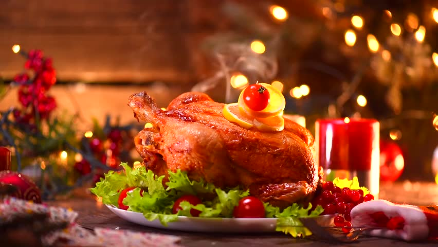 Image result for Roasted Chicken during the christmas