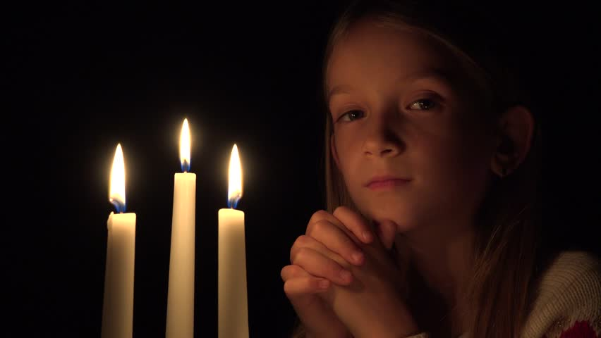 4k Sad Child By Candles, Stock Footage Video (100% Royalty-free) 22513765 |  Shutterstock
