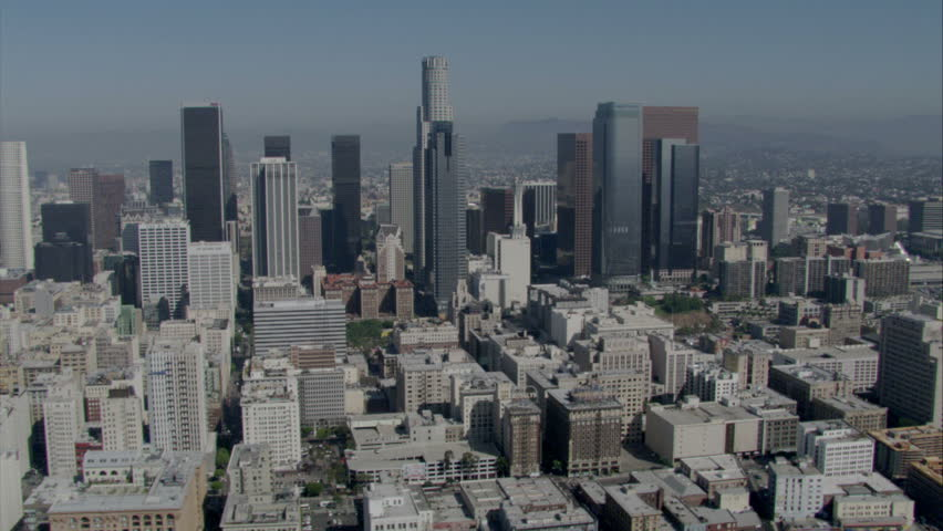 aerial daytime view of Los Angeles