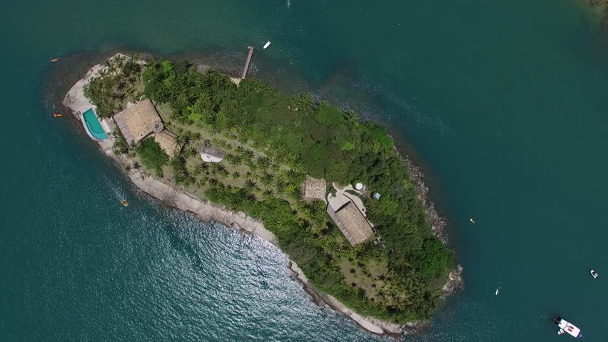Top View of Island in Ilhabela, Brazil