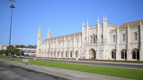 Jeronimos Monastery or Hieronymites Monastery, is monastery of Order of Saint Jerome near Tagus river in parish of Belem, in Lisbon Municipality, Portugal.