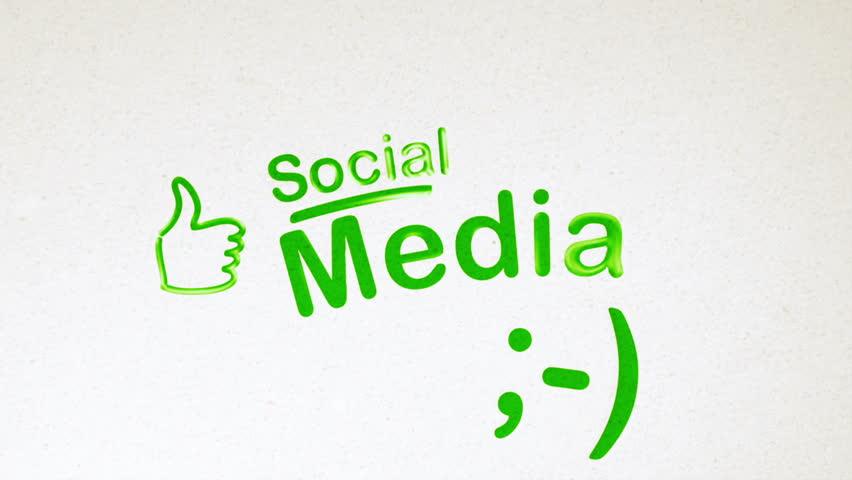 Social Media Diagram Animation on White   Shutterstock HD Video #2274035