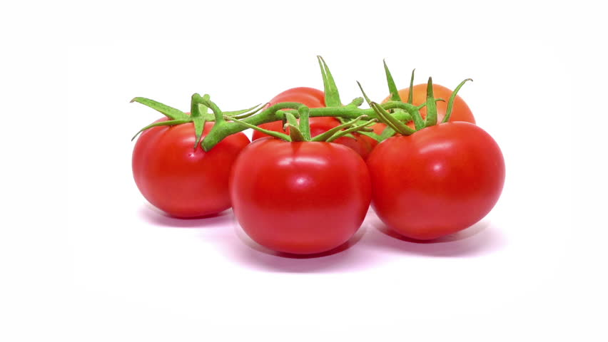 Tomatoes isolated on white background.Brunch of tomatoes rotating .loop able video  | Shutterstock HD Video #22745305