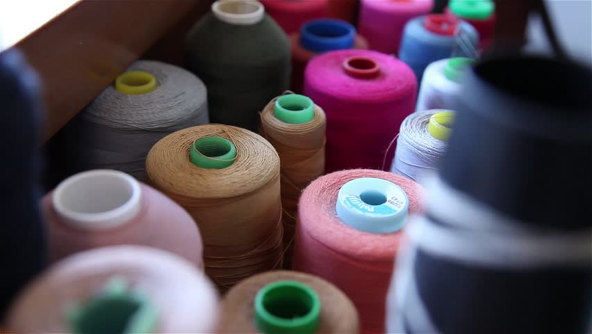 Lines of rollers for sewing | Shutterstock HD Video #22849825