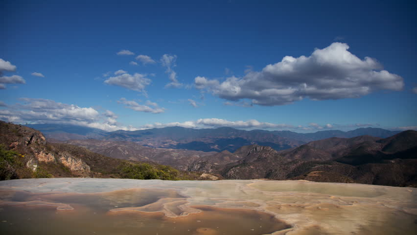 the unique and beautiful landscape of hierve al aqua in oaxaca state, mexico