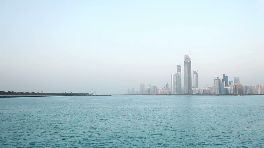People on the shore of Bay in Abu Dhabi
