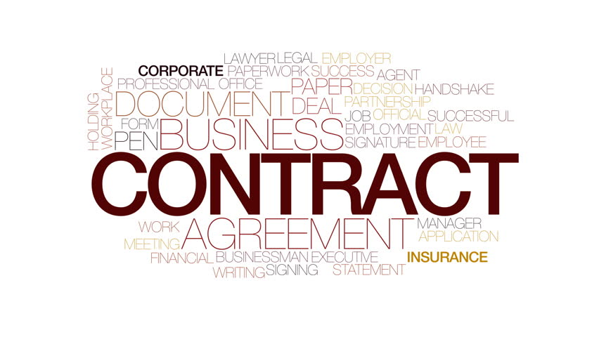 Contract Animated Word Cloud. Kinetic Typography. Stock Footage Video  22915585 | Shutterstock  Contract Word
