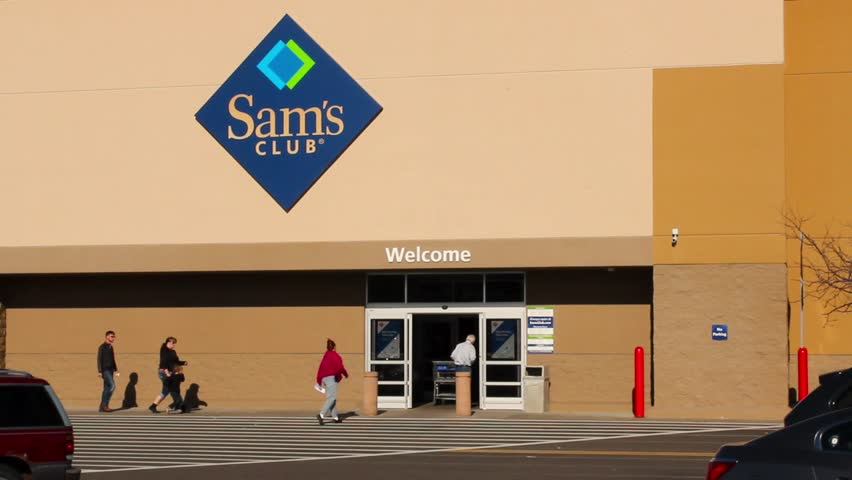 RIVER FALLS,WISCONSIN-JANUARY 10,2017: Several customers entering the local Sam's Club store to purchase merchandise.