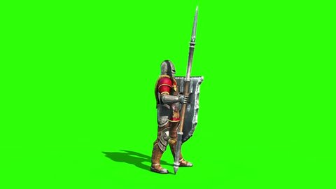 Centurion Roman Soldier in Defense Side Lance Helmet Shield