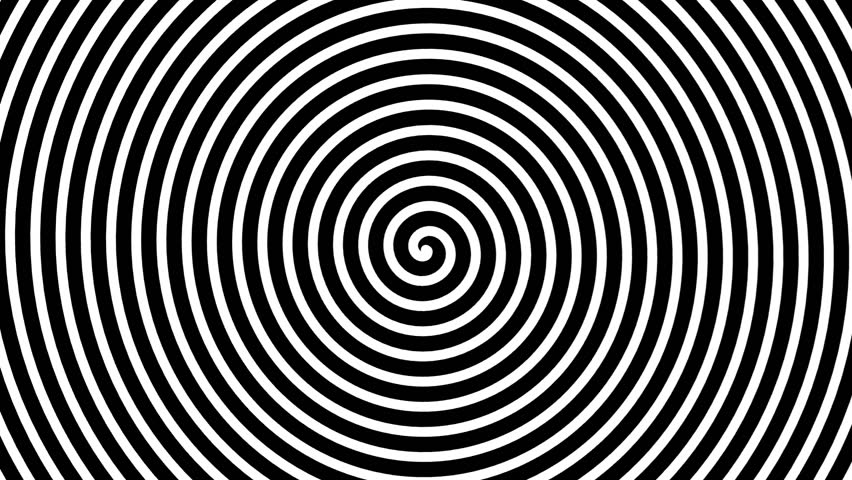 black and white hypnotic circle three dimensions loop