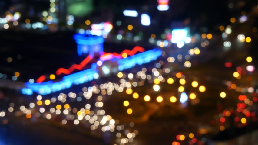Blurred abstract background lights, beautiful cityscape. Ben Thanh market, Ho Chi Minh city, Vietnam | Shutterstock HD Video #23029735