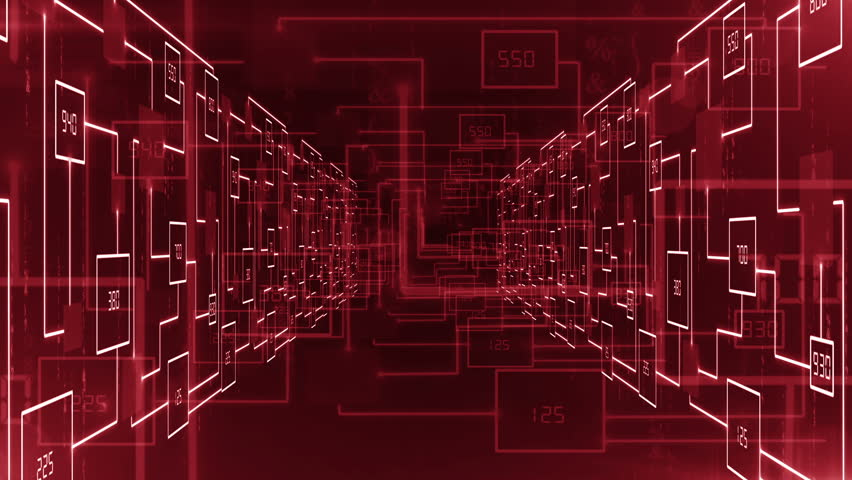 Electronic circuit zoom in tunnel background LOOP | Shutterstock HD Video #23036437