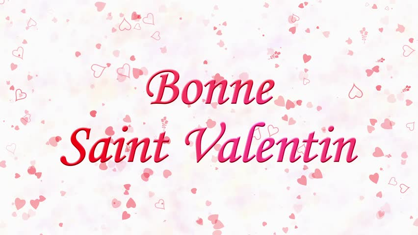 Happy Valentine\'s Day Text In French \