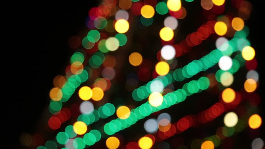 Christmas And New Year Decoration. Abstract Blurred Bokeh Blinking ...