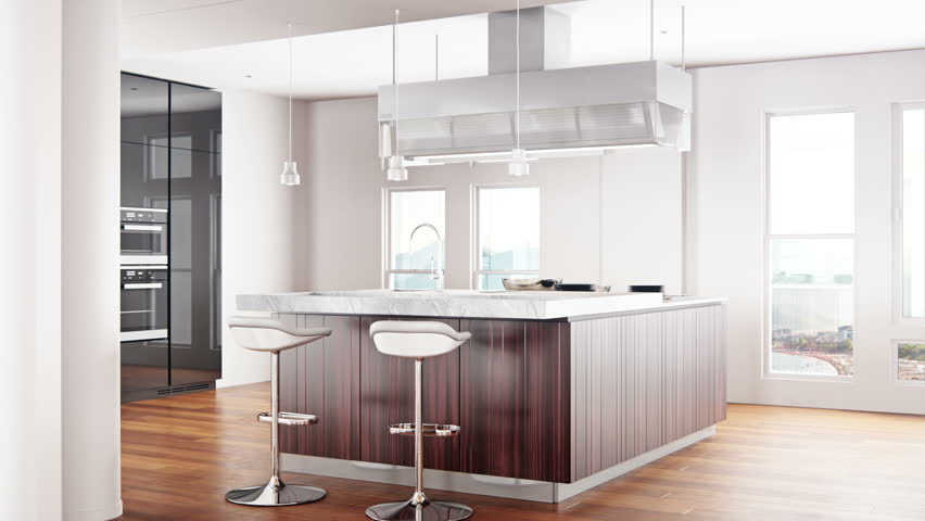 Modern Kitchen Interior Stock Footage Video 100 Royalty Free