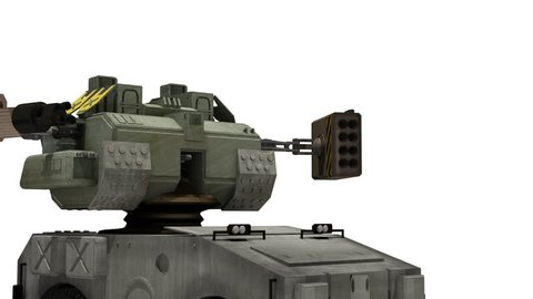 Robotic tank or mech, futuristic concept