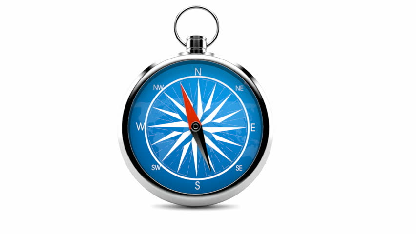 Hsv Weihnachtskugeln.Compass Isolated On White Background Stock Footage Video 100 Royalty Free 23128255 Shutterstock