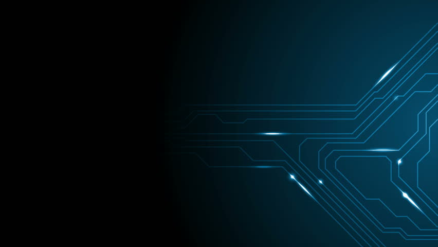 Black And Blue Tech Wallpaper: Blue Tech Circuit Board Technology Animated Background