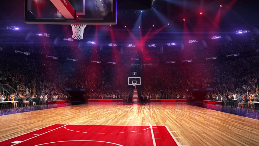 basketball court with people fan  stock footage video  100