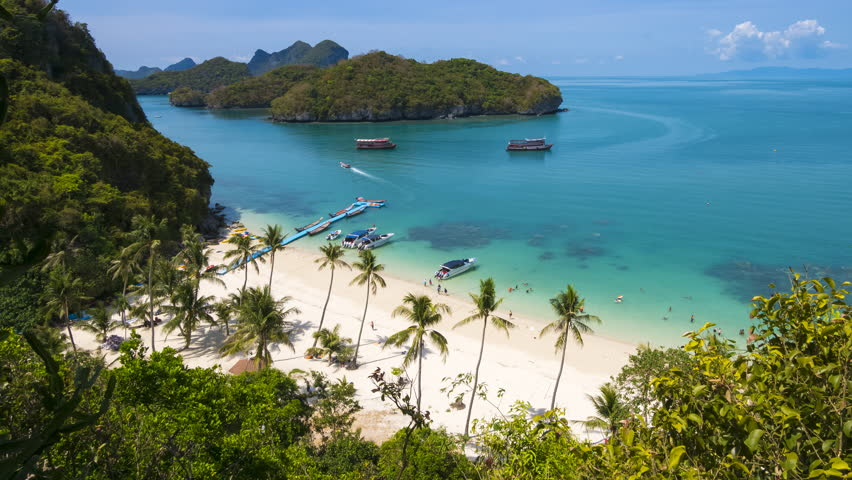 4K Timelapse of Angthong national marine park, koh Samui, Thailand  | Shutterstock HD Video #23226115