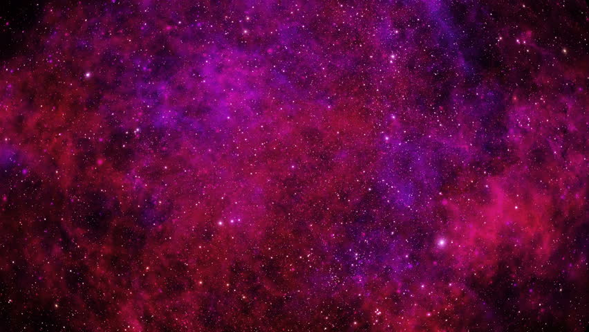 Stars Fly Past The Viewer Against A Backdrop Of Red And Purple Clouds Gas In