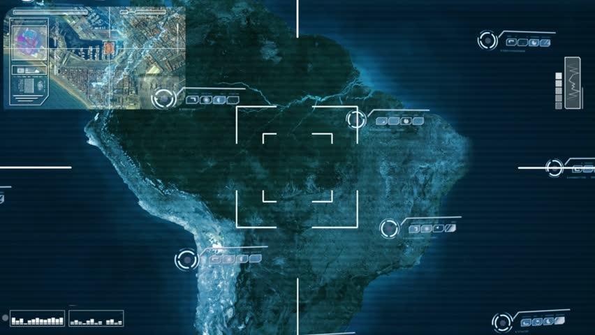 World map scanning  | Shutterstock HD Video #23338135
