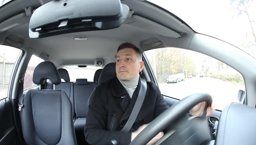 Man Ride Car Dashboard Pov Video De Stock Totalmente Libre De