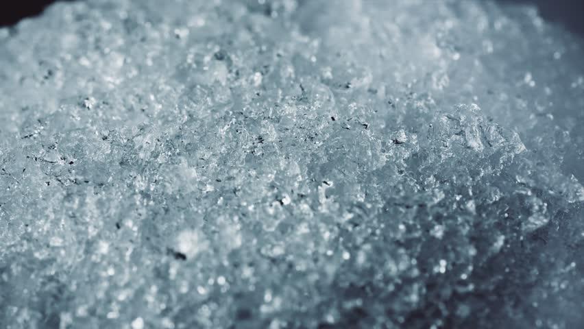 ice snow crystal, crystals forming, macro shot 4k
